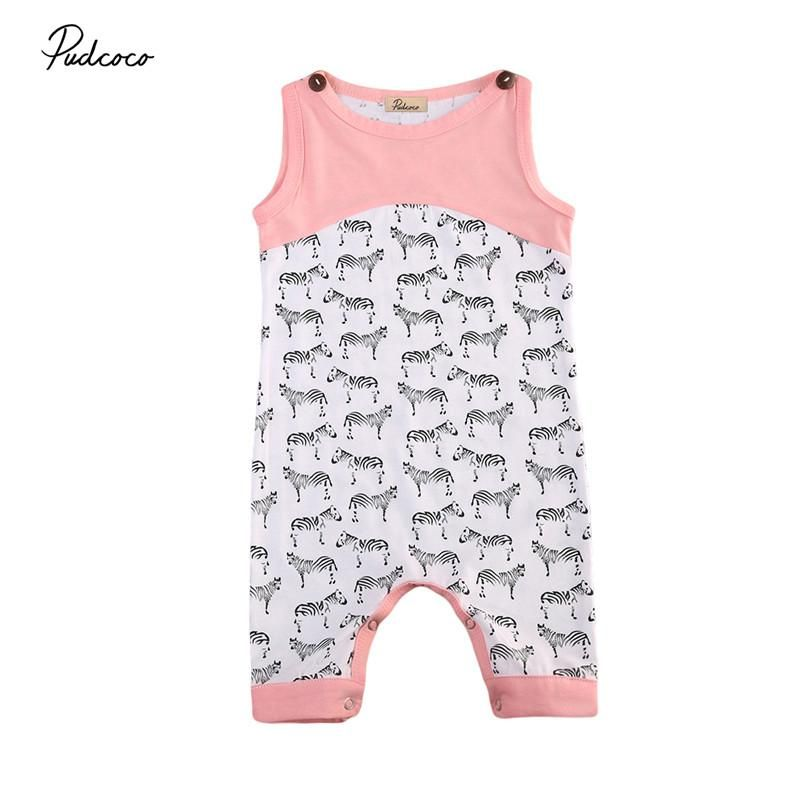 555a78185fdc Pudcoco Infant Newborn Baby Boy Girl Cotton Rompers One Pieces Clothes  Outfit