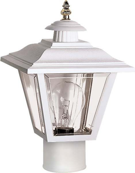 """White Outdoor Lights Brilliant Nuvo Lighting 77899 Single Light 13"""" Coach Post Lantern With Brass Review"""