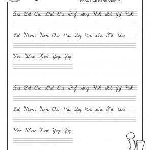 Cursive Worksheets 6th Grade: Printable Cursive Worksheets A Z,