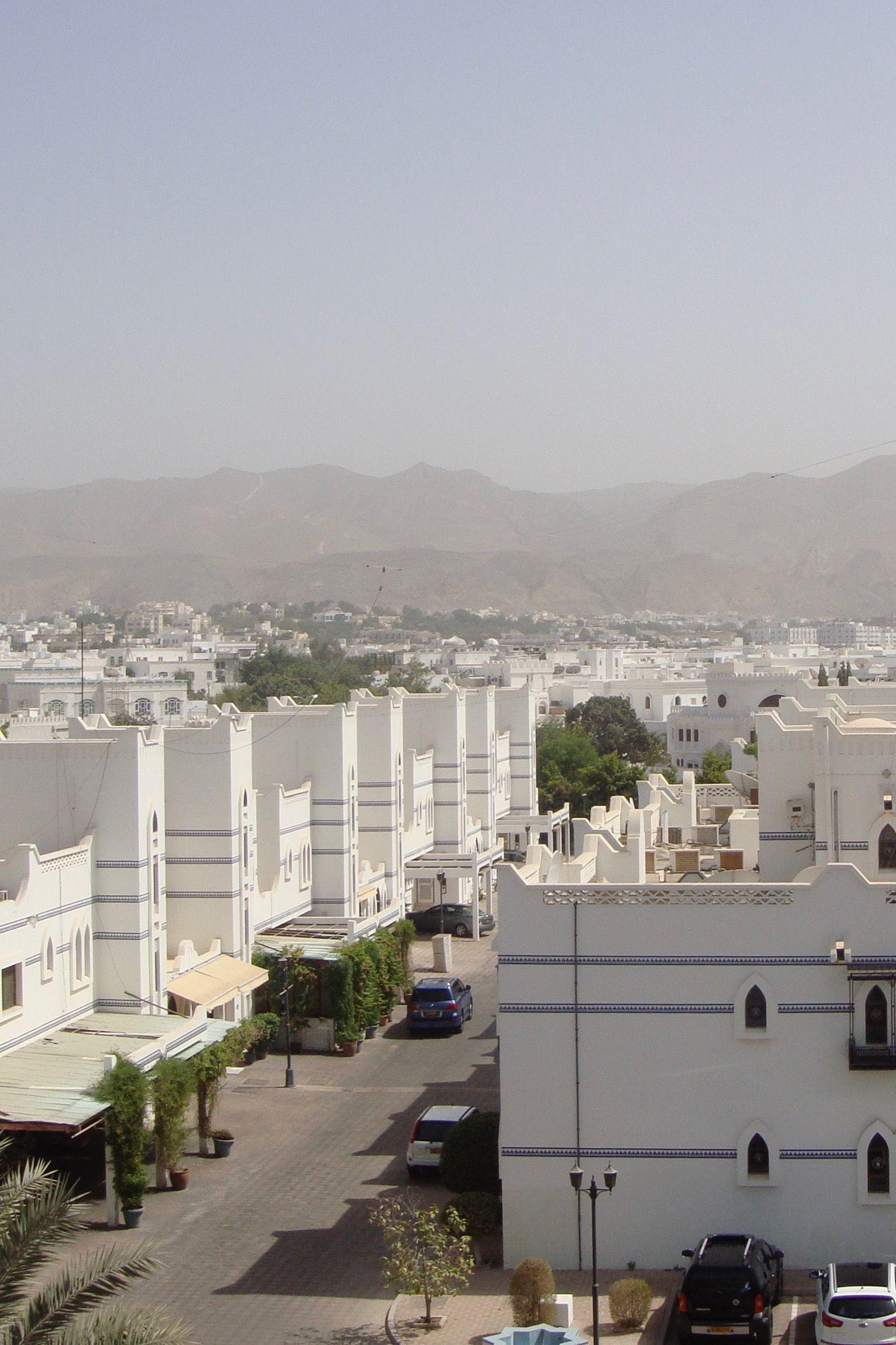 Muscat Oman White City White Building Travel