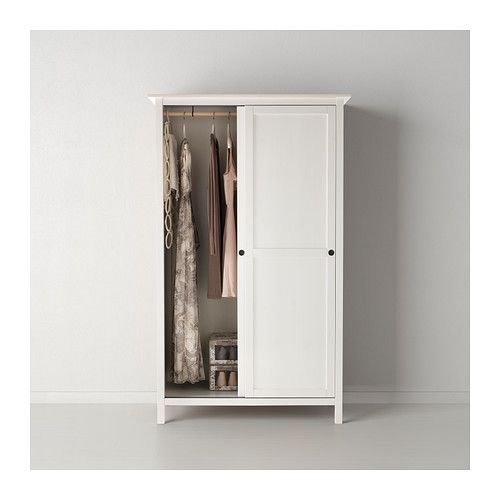 hemnes kleiderschrank mit 2 schiebet ren wei gebeizt pinterest hemnes kleiderschrank. Black Bedroom Furniture Sets. Home Design Ideas