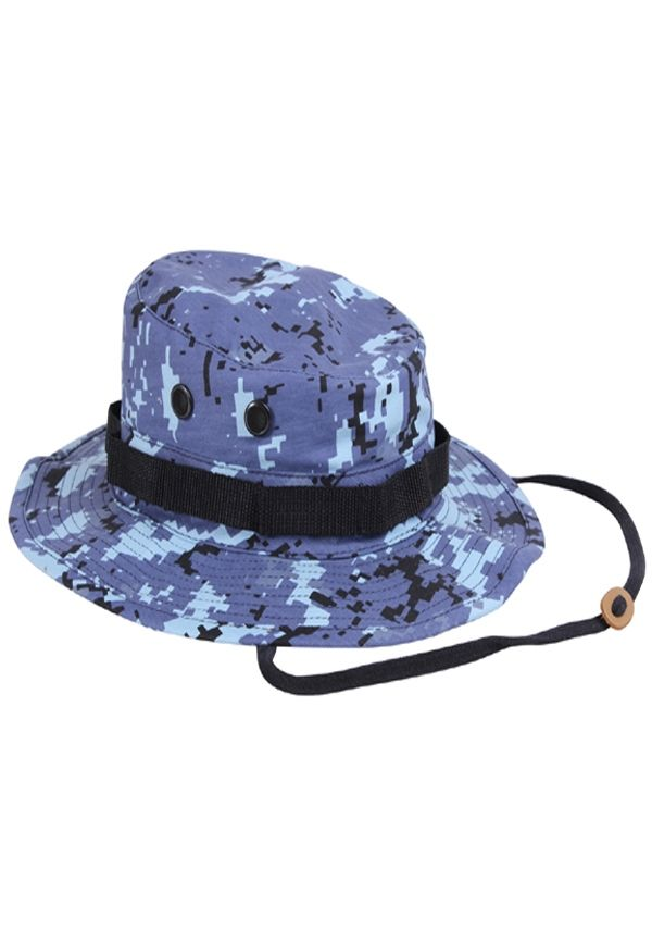 0c676518fa208 Sky Blue Digital Camo Poly Cotton Boonie Hat