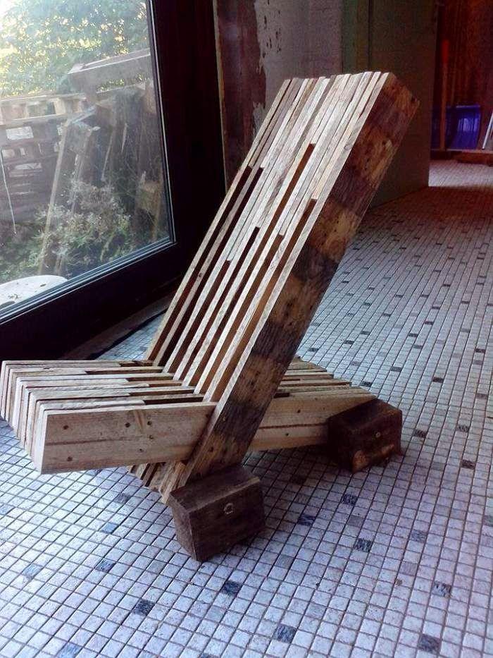 Muebles de palets: Silla de diseño hecha con tablas de palets ...