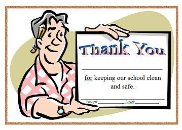 Janitor cleaning the school campus Clipart | k51590853 | Fotosearch