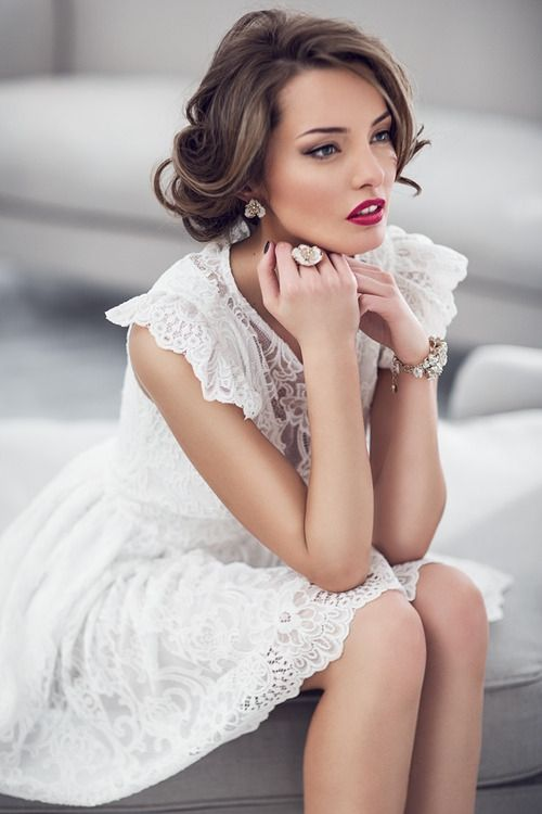 bf569964c Textures photograph beautifully in a lace dress. white lace Little White  Dresses ...