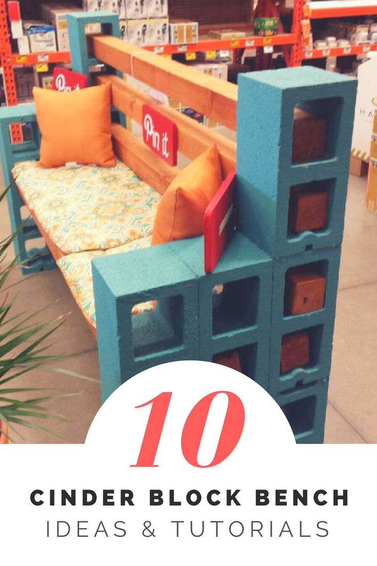 How to Make a Cinder Block Bench: 10 Amazing Ideas to Inspire You ...