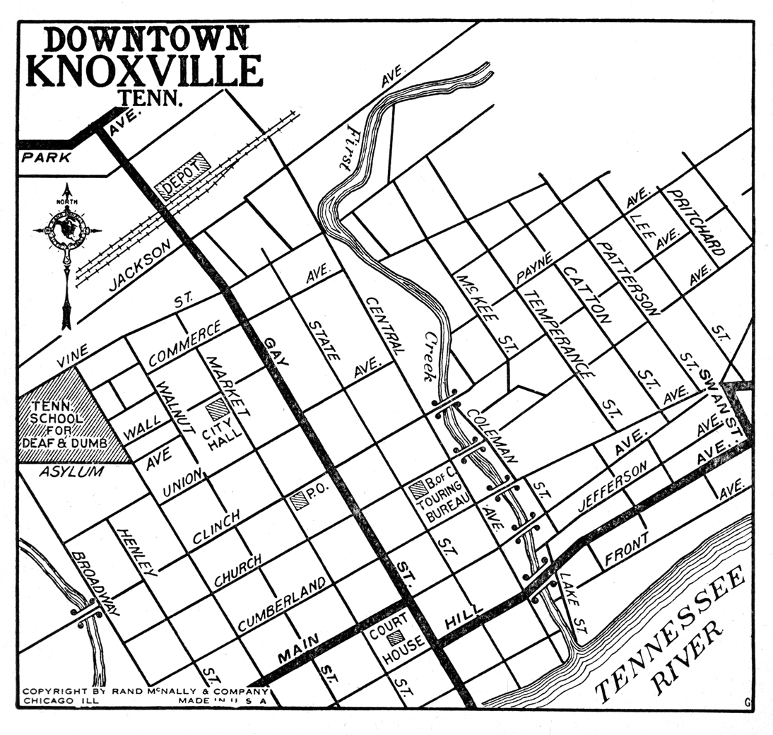 Downtown Knoxville Map City Maps Knoxville Map Tennessee