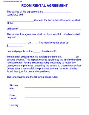 Room Rental Agreement Room Rental Agreement Rental Agreement Templates Roommate Agreement Template