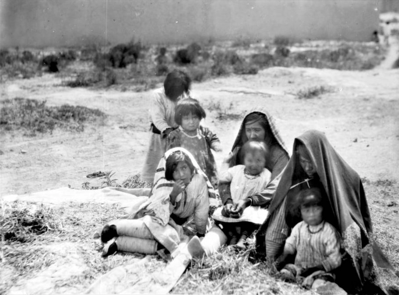 Group Of Laguna Indians At Paquate New Mexico