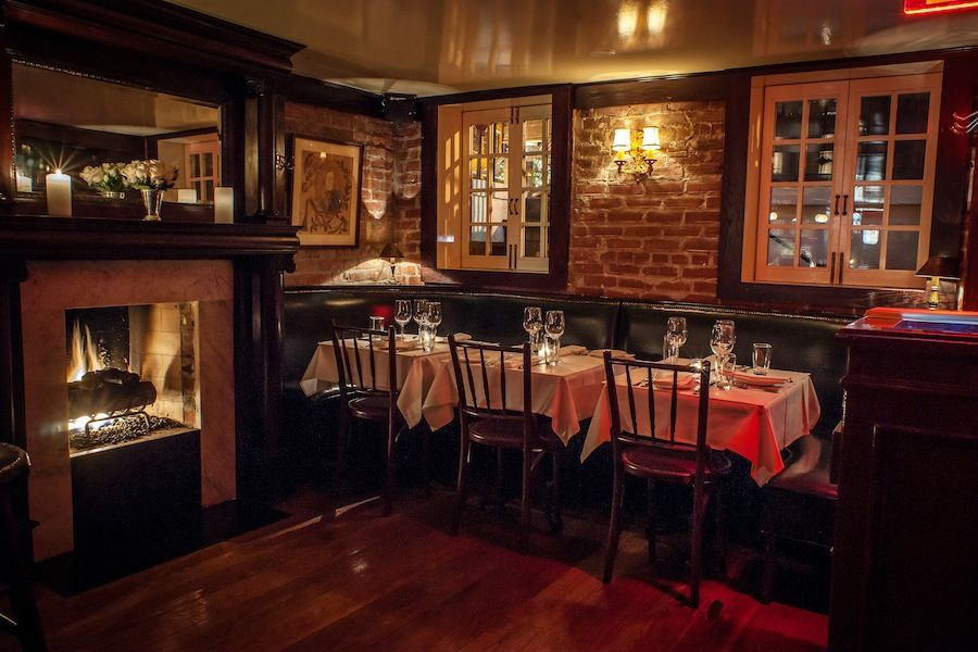 The Tables And Fireplace At The Beatrice Inn S Bar Nyc Bars Ny Restaurants Bar