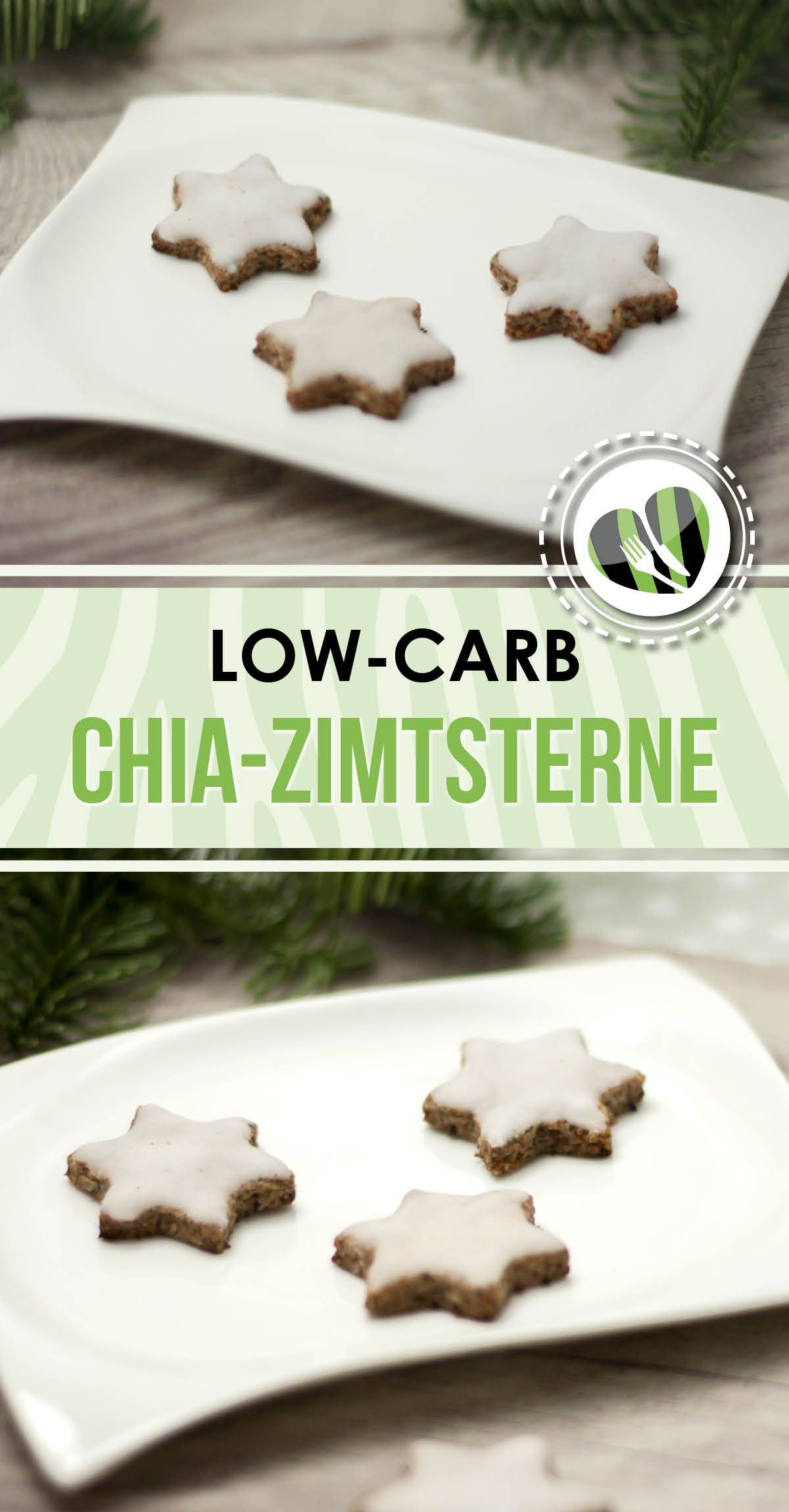 Chia Zimtsterne Low Carb Vegan Und Super Lecker Leckere Low Carb