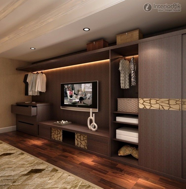 Wall To Wall Wood Storage Cabinets Modern Solid Wood TV - Bedroom wardrobe designs with tv unit