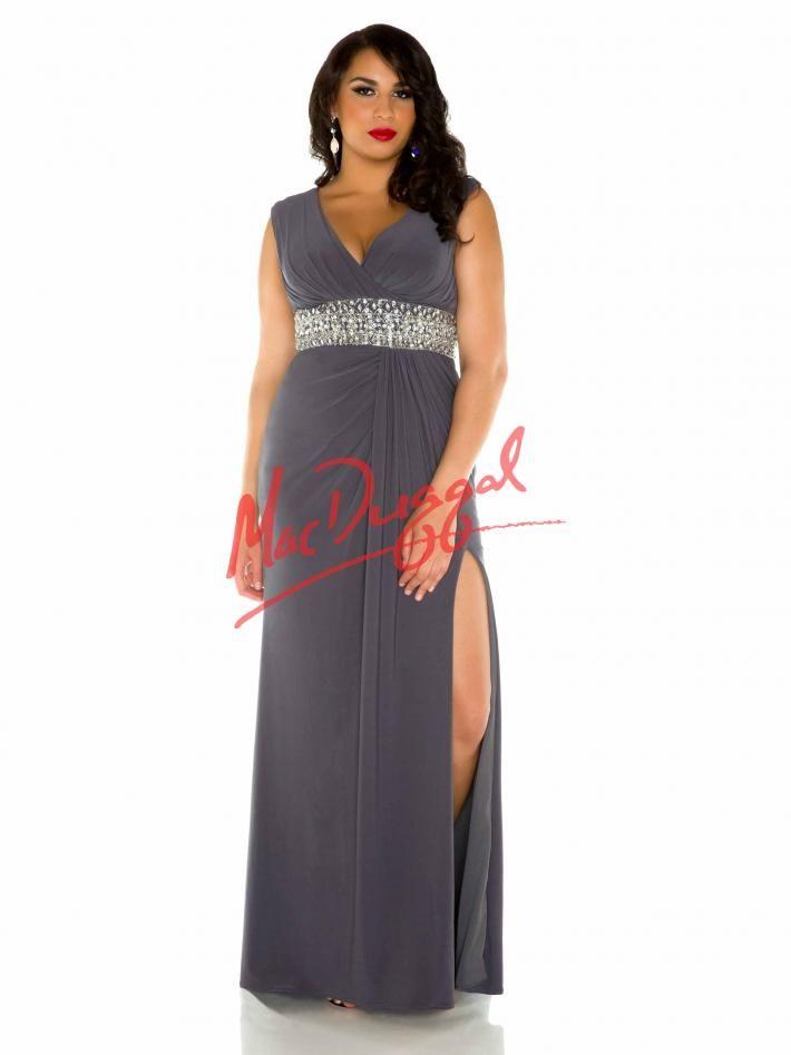 Plus Size Prom Dress | Grecian Gown | Charcoal | Mac Duggal ...