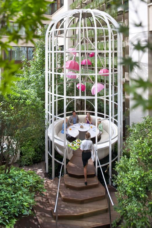 Garden Dining / Mandarin Oriental Hotel, Paris | Wanderlust ...