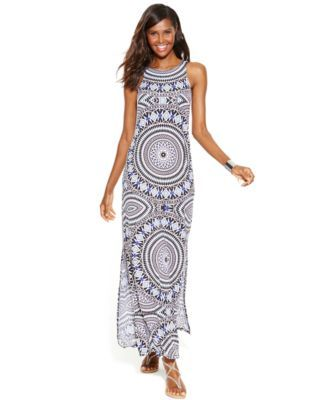 67434b96a187 INC International Concepts Mosaic-Print Maxi Dress  Wedding guest dress.  Love the print and neckline!