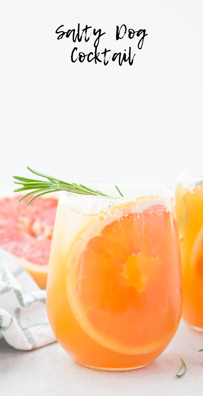 Salty Dog Cocktail  #grapefruitcocktail