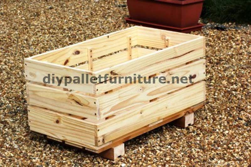 Muebles de palets La jardinera de Manou hecha con palets pots - como hacer una jardinera