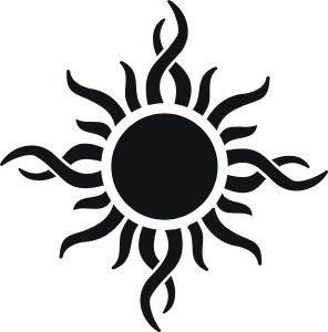 Significado de tatuajes tribales Pinterest Tatuajes Smbolos y Sol