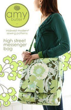 Adorable messenger bag pattern.
