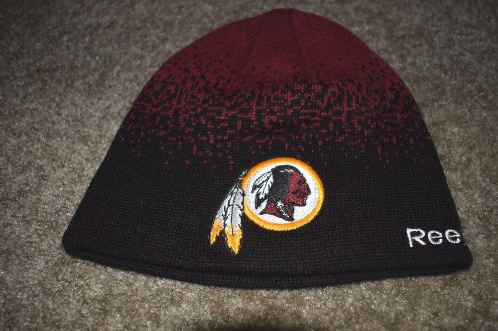 46bf65db945 Washington Redskins NFL Youth Reebok Hat Cap Knit Red Boys Beanie Hat   Reebok  WashingtonRedskins