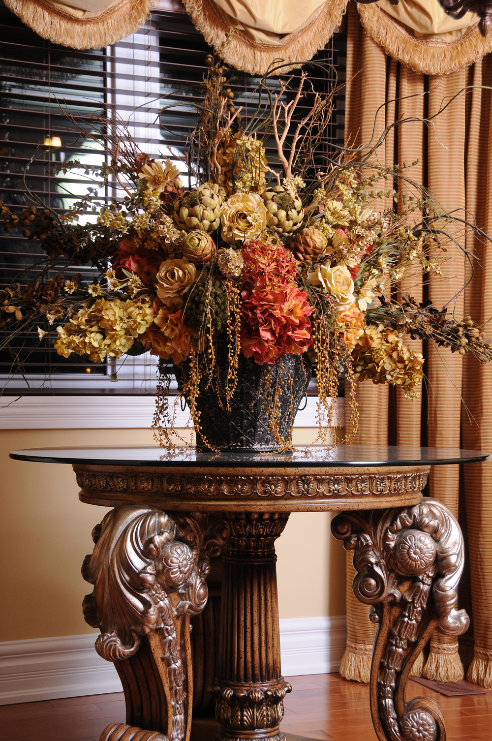 Custom Silk Flower Arrangements Tuscan Home Pinterest Silk