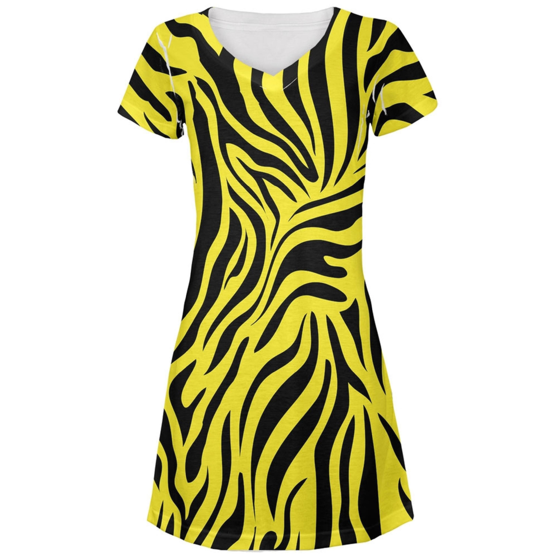 Zebra print yellow all over juniors vneck dress style pinterest