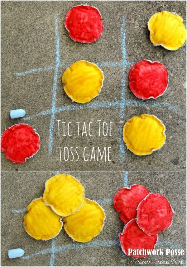 Handmade Fish Toss Game with Fabric Bucket -