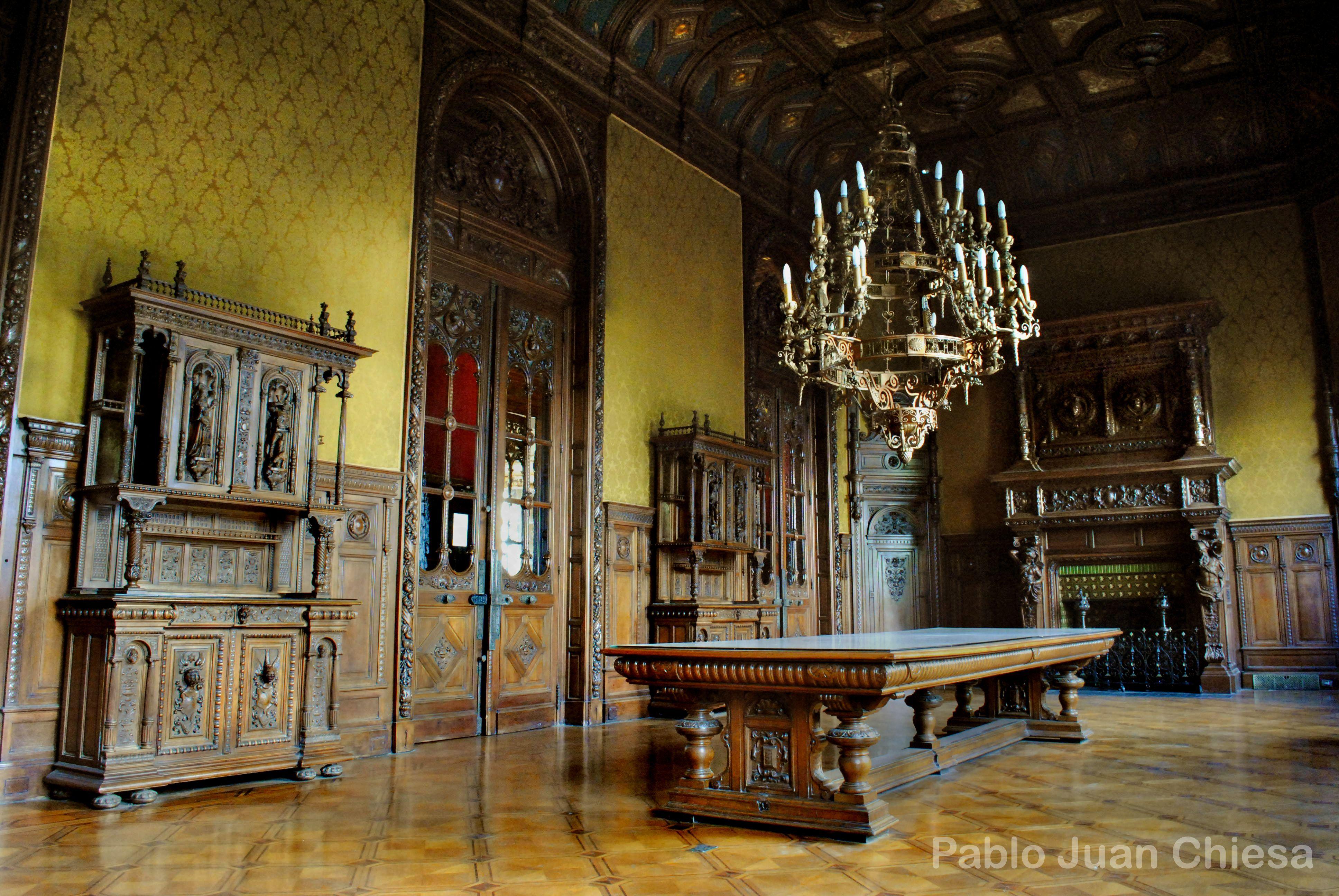 Gran Comedor Estilo Enrique Ii En El Palacio Paz En Argentina  # Muebles Renacentistas