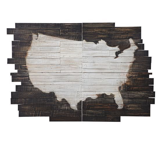 Planked Pine Panels Usa Wall Art Wall Art Handmade Wall Art Planked Wall Art