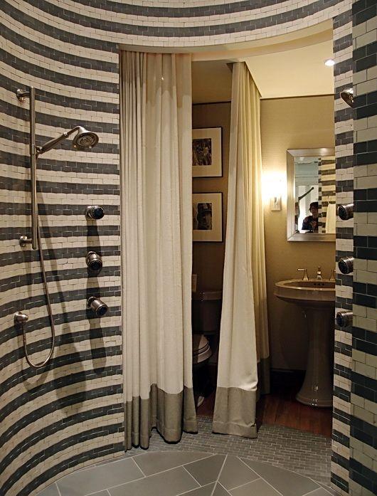 Round tile shower | Dream Home | Pinterest | Kohler shower, Tile ...