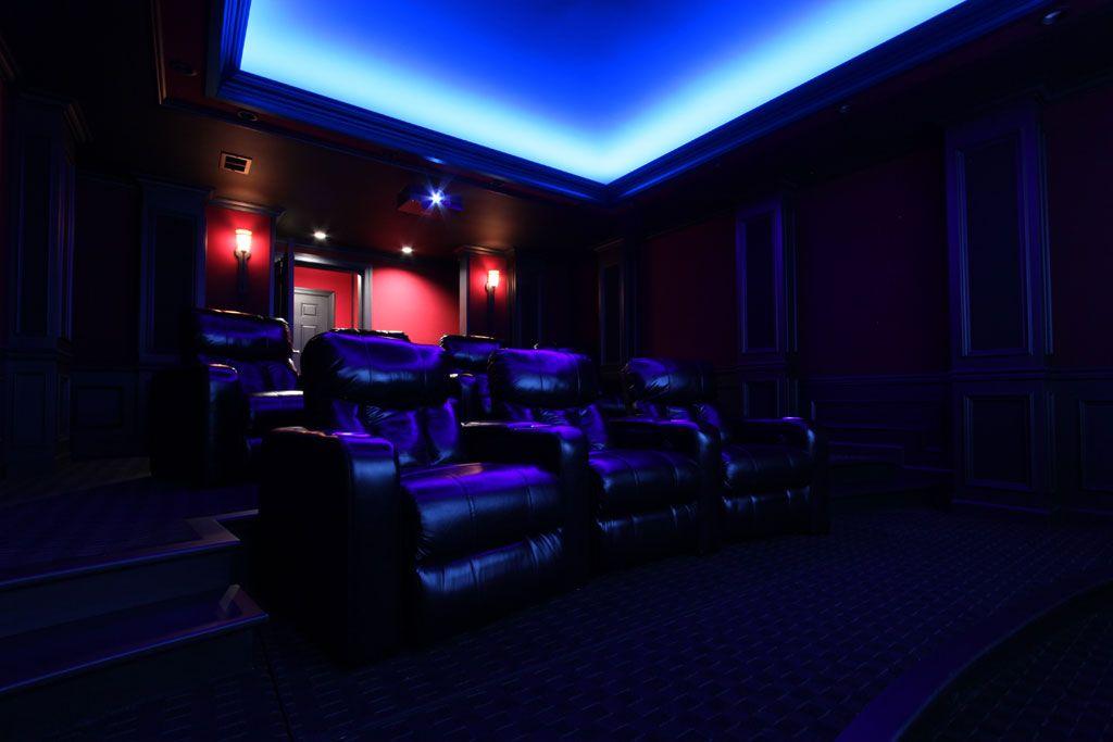 Mario S Custom Home Theater Lighting Using Hitlights Led Strip