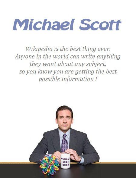 Wikipedia Is The New Encyclopaedia Britannica P Michael Scott The Office Season 3 Episode 19 T Michael Scott The Office Michael Scott The Office Season 3