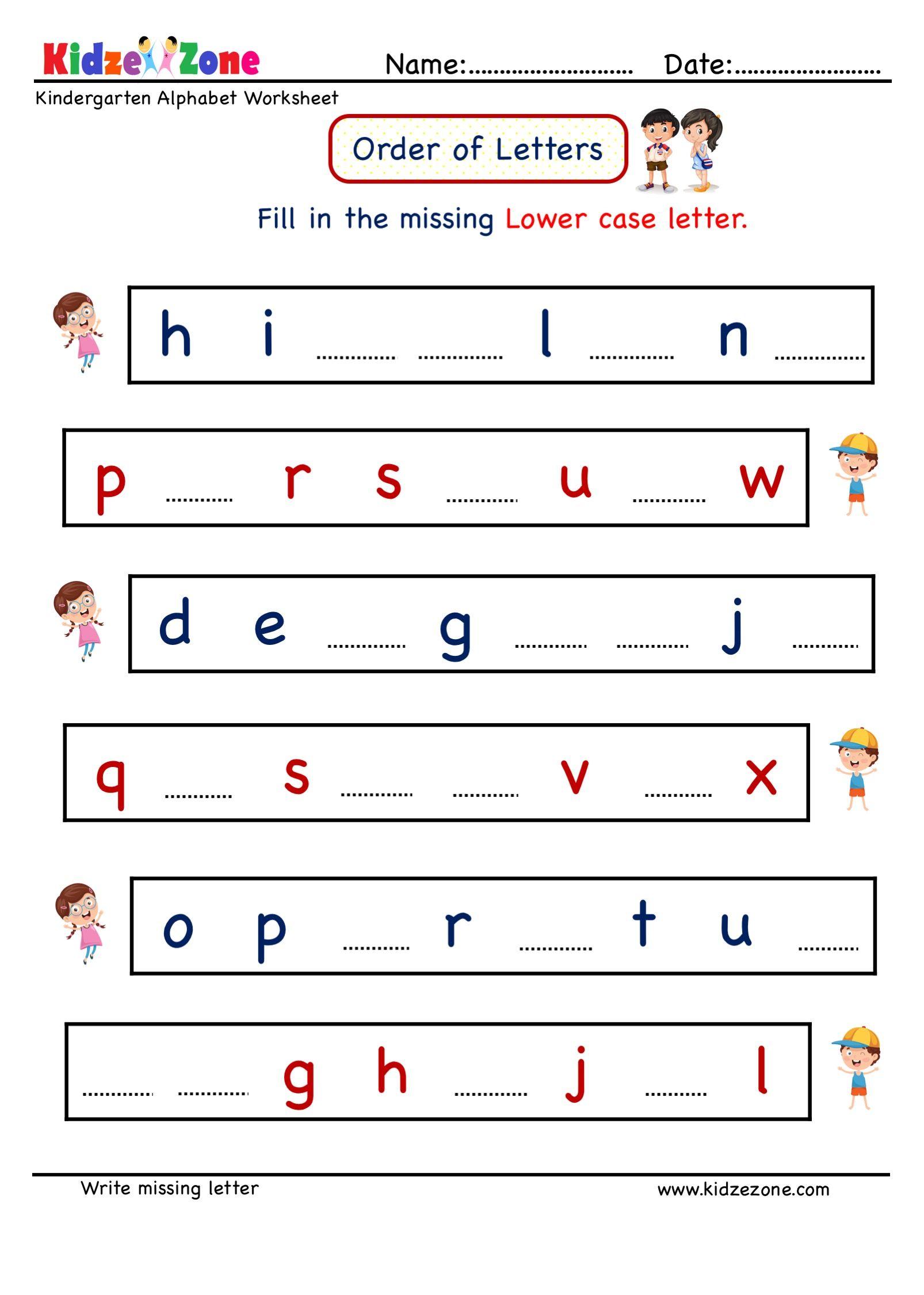 Kindergarten Missing Letter Writing Worksheet In 2021 Letter Worksheets Kindergarten Letter Writing Worksheets Letter Worksheets Write missing letter worksheet