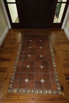 Wood Floor Inlay Design Wood Floor With Tile Inlay