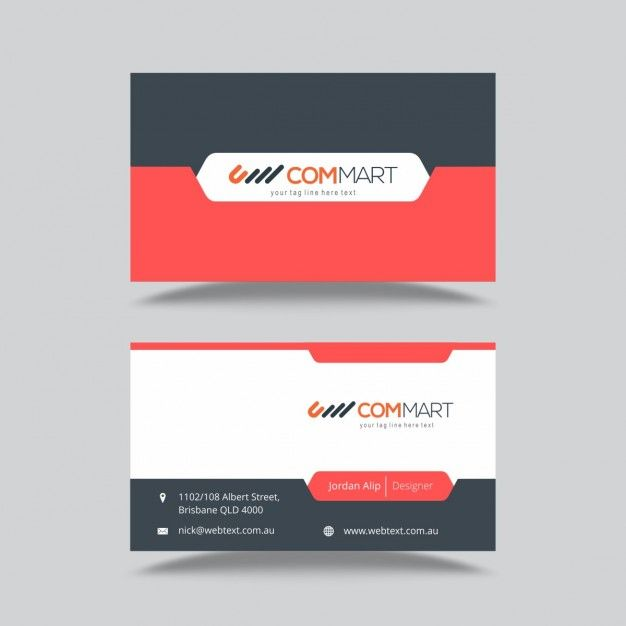 Business card template free vector design grafismos business card template free vector reheart Gallery
