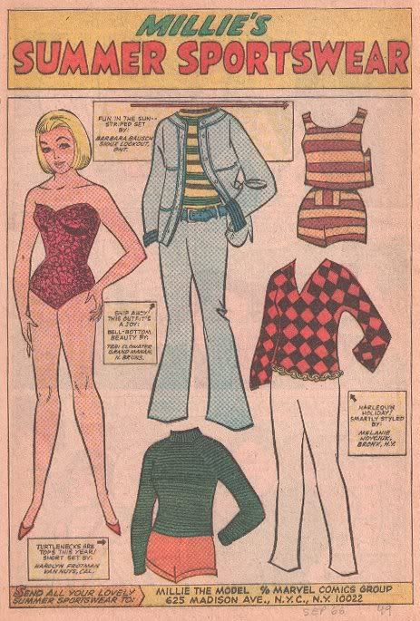 1966 Modeling With Millie paper doll / eBay