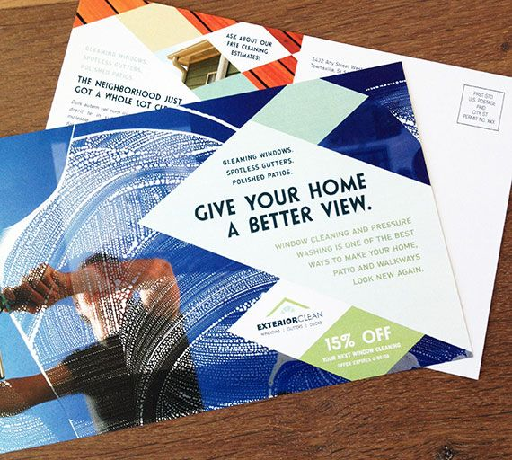 Window Cleaner postcard template design by StockLayouts www - postcard template