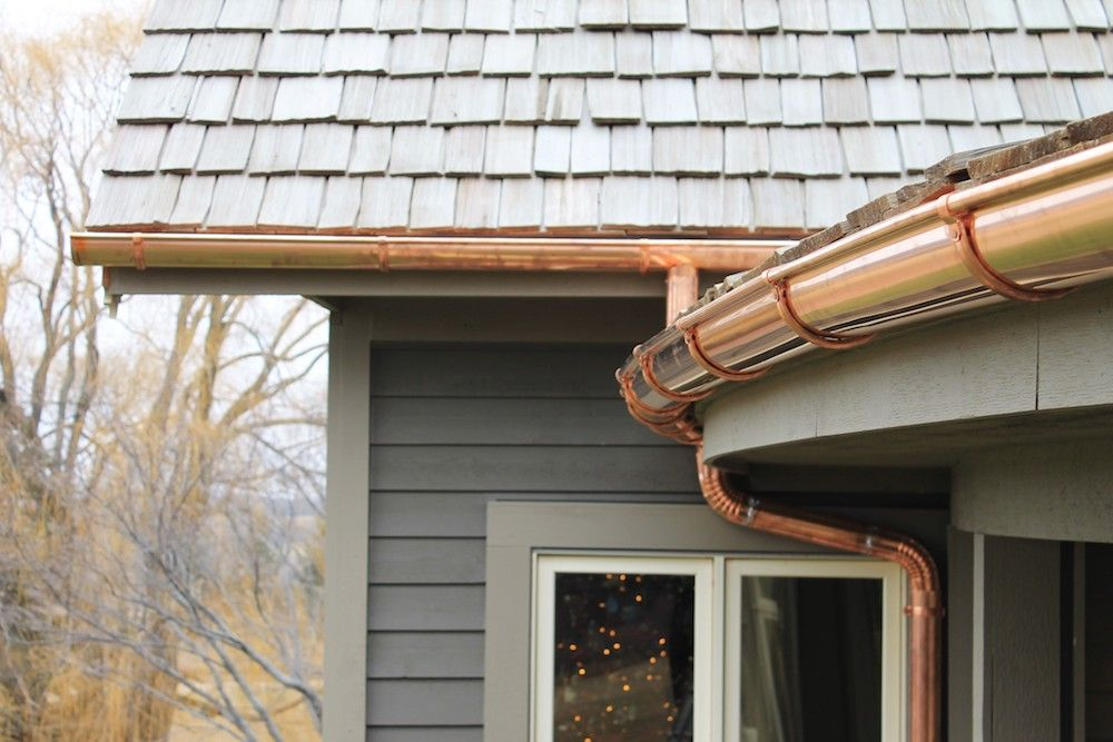 Gutter Installation Cost Home Construction Copper Gutters Roof Cost