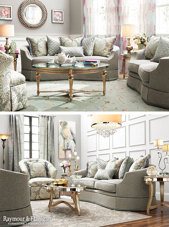 Chic Classic And Stunning Are Just A Few Of The Ways We Like To Describe The New Alessandra Living R Home Living Room Living Room Collections Living Room Sets #raymour #flanigan #living #room #sets