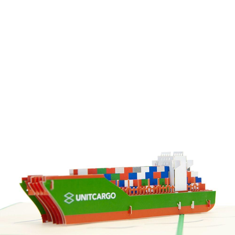Custom Cargo Ship Pop Up Card, Custom Pop Up Cards