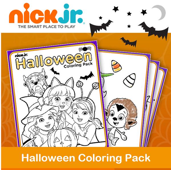 Thrifty Momma Ramblings Free Nick Jr Halloween Color Sheets Halloween Coloring Halloween Coloring Sheets