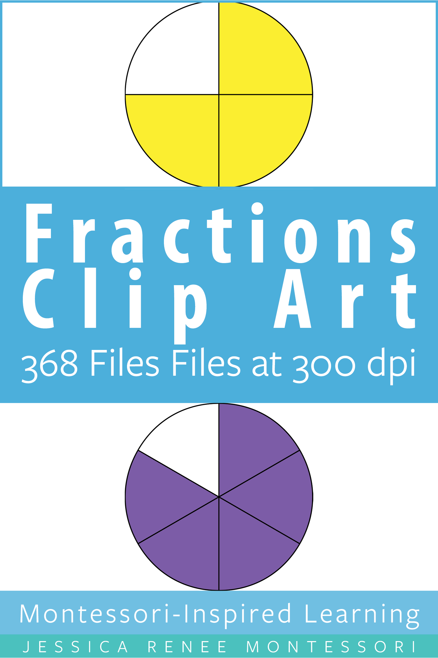 Montessori Fractions Clip Art For Commercial Use