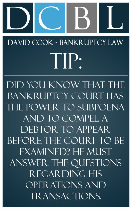 DCBL Bankruptcy Court tip: Did you know that the ...