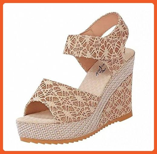 60186bad7a7ea Papala Women Summer Shoes Fashion High-heel Wedge Sandals (US 7.5 ...