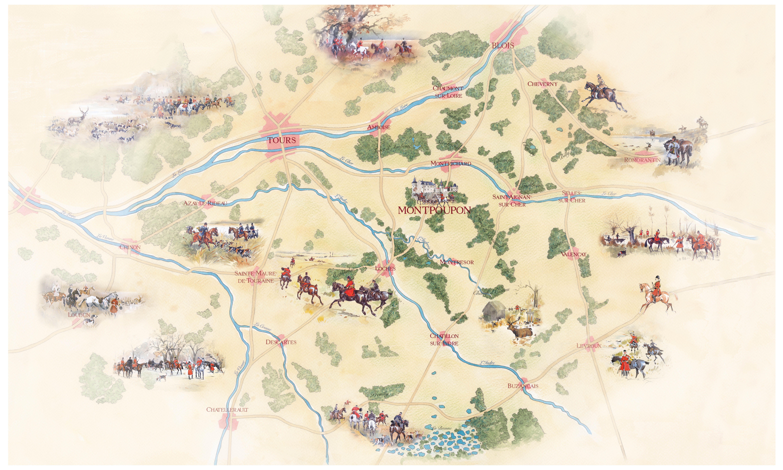 Plan illustré de la Vallée du Madelon pr¨s de Ch¢teau Renault en