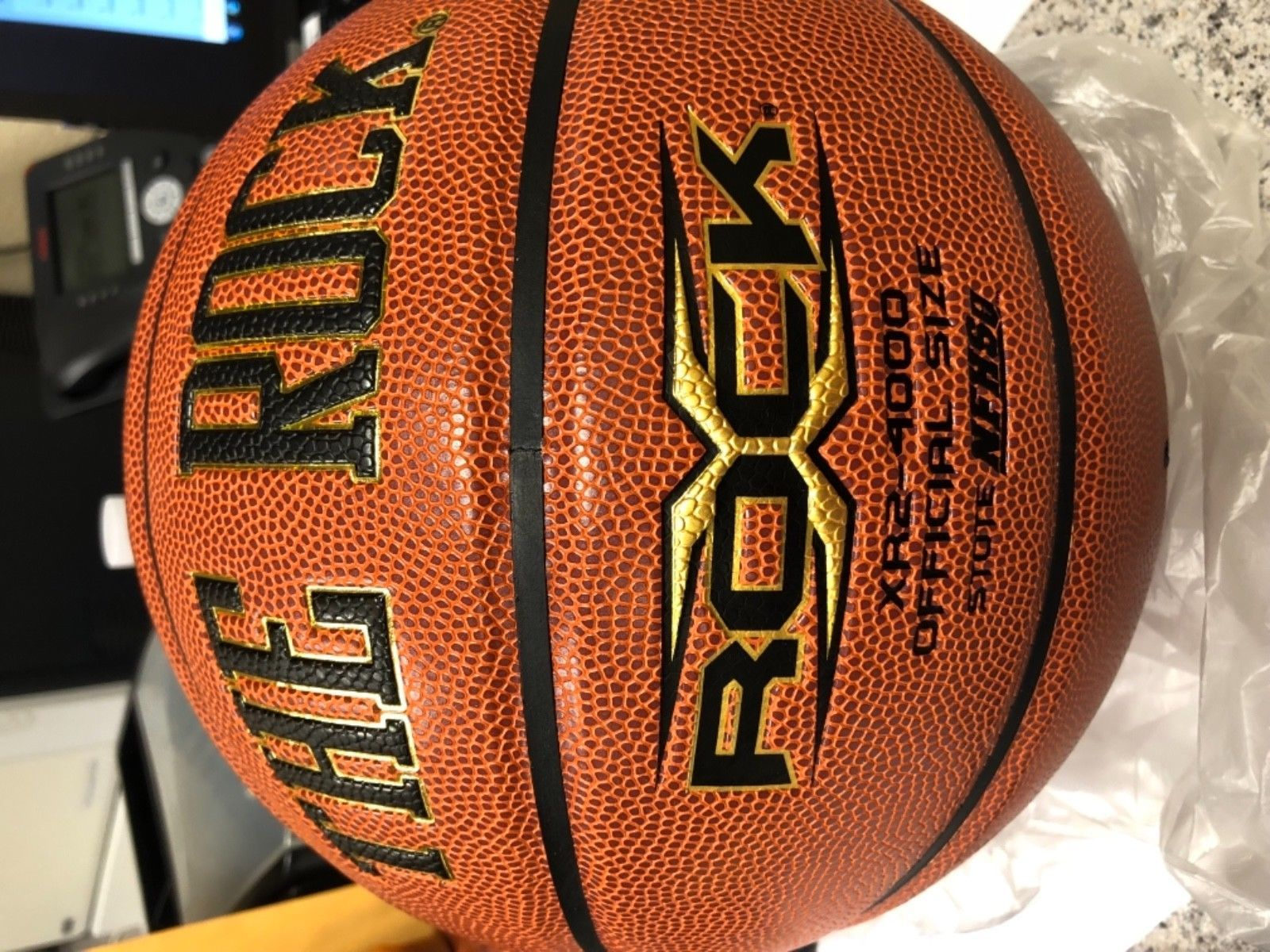 "d2d947a68ce Balls 21208  29.5 ""The Rock"" Men S Basketball -  BUY IT NOW ONLY   40 on   eBay  balls  basketball"