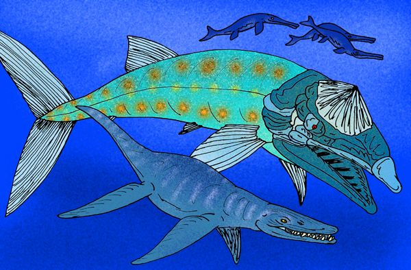 Leedsichthys and liopleurodon hanging out