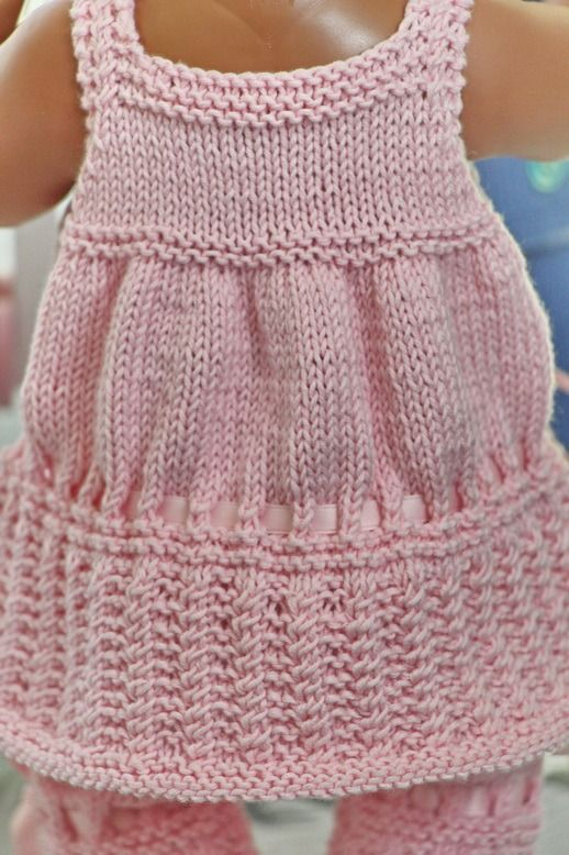 Baby Dolls Clothes Knitting Patterns Hkovnpleten Pinterest