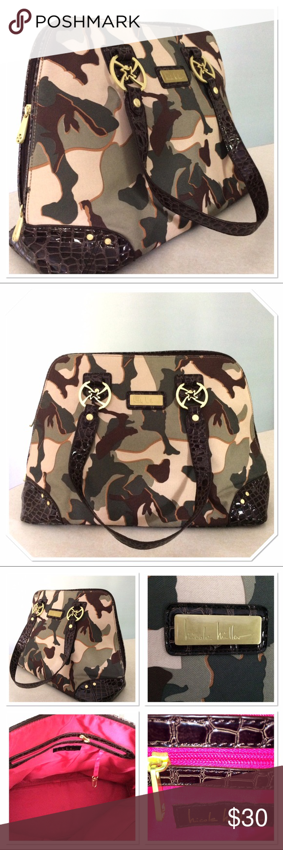 SALE💥 NWOT NICOLE MILLER CAMOUFLAGE TOTE Overnight