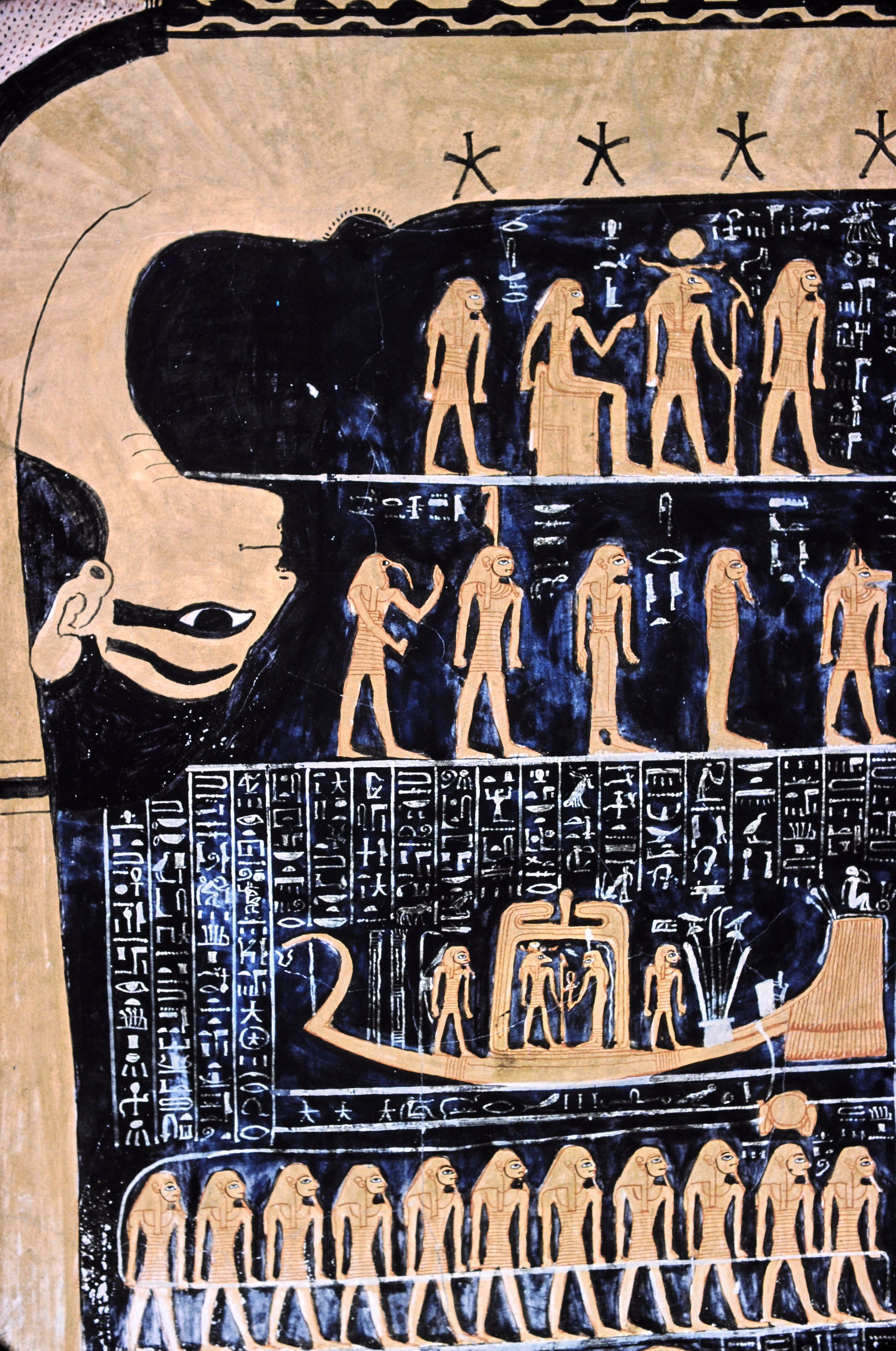 Nut Egyptian Goddess Of The Sky With The Star Chart In The Tomb Of